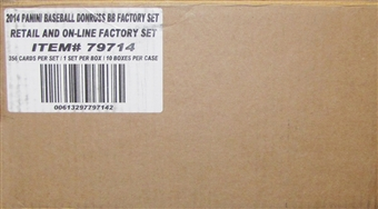 2014 Panini Donruss Factory Set Baseball Hobby (Box) Case (10 Sets)