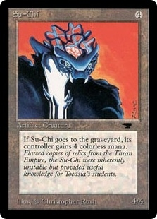 Magic the Gathering Antiquities Single Su-Chi - SLIGHT PLAY (SP)