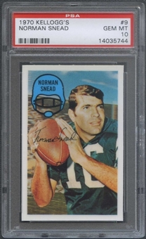 1970 Kellogg's Football #9 Norman Snead PSA 10 (GEM MT) *5744