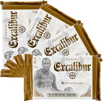 2014/15 Panini Excalibur Premium Basketball Hobby Pack (Lot of 4)