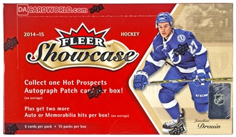 2014/15 Upper Deck Fleer Showcase Hockey Hobby Box
