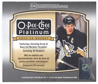 2014/15 Upper Deck O-Pee-Chee Platinum Hockey Hobby Box