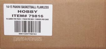 2014/15 Panini Flawless Basketball Hobby 2-Box Case