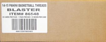 2014/15 Panini Threads Basketball Blaster 20-Box Case (20 Rookie Threads! 40 Wood Rookie Cards!)