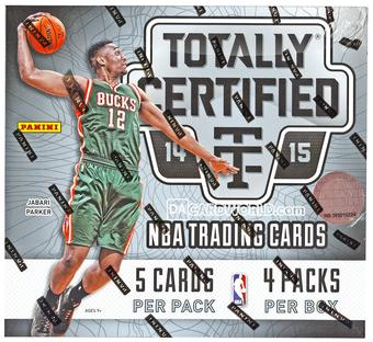 2014/15 Panini Totally Certified Basketball 15-Box Hobby Case- DACW Live 30 Team Random Break #26
