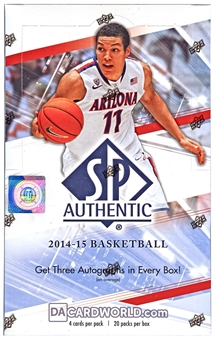 2014/15 Upper Deck SP Authentic Basketball Hobby Box