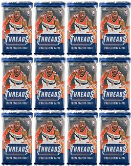 2014/15 Panini Threads Premium Basketball Hobby Pack (Lot of 12)