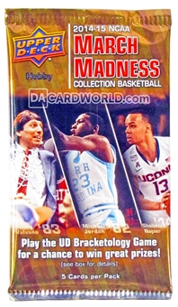 2014/15 Upper Deck NCAA March Madness Collection Basketball Hobby Pack