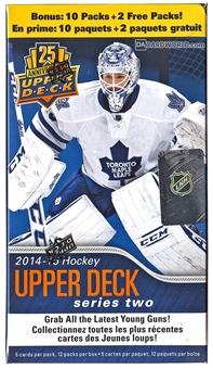 2014/15 Upper Deck Series 2 Hockey 12-Pack Box (Lot of 10)