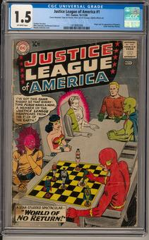 Justice League of America #1 CGC 1.5 (OW) *1419082006*