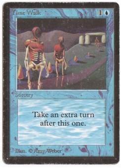 Magic the Gathering Beta Single Time Walk HEAVY PLAY