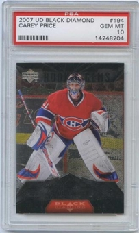 2007/08 Upper Deck Black Diamond #194 Carey Price RC PSA 10 Gem Mint