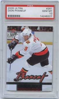 2005/06 Fleer Ultra #261 Dion Phaneuf RC Rookie Card PSA 10 Gem Mint