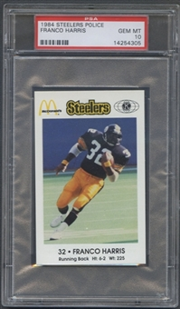 1984 Steelers Police Franco Harris PSA 10 (GEM MT) *4305