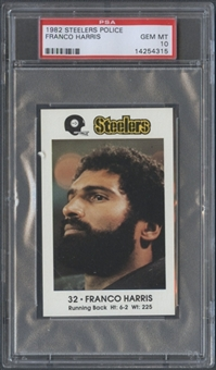 1982 Steelers Police Franco Harris PSA 10 (GEM MT) *4315