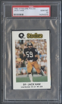 1982 Steelers Police Jack Ham PSA 10 (GEM MT) *4370