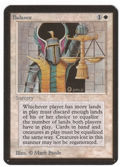 Magic the Gathering Alpha Single Balance LIGHT PLAY (NM)