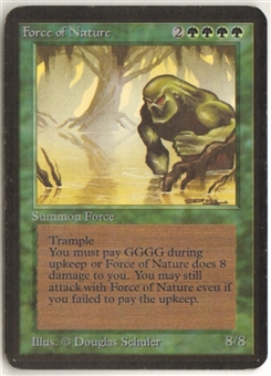 Magic the Gathering Alpha Single Force of Nature LIGHT PLAY (NM)