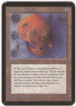 Magic the Gathering Alpha Single Illusionary Mask LIGHT PLAY (NM)