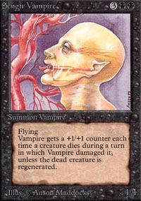 Magic the Gathering Alpha Single Sengir Vampire UNPLAYED (NM/MT)
