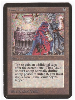 Magic the Gathering Alpha Single Time Vault LIGHT PLAY (NM)