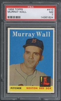 1958 Topps Baseball #410 Murray Wall PSA 7 (NM) *1624