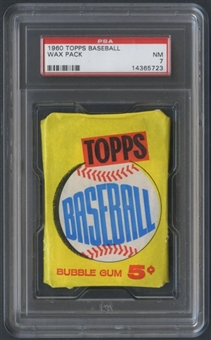 1960 Topps Baseball Wax Pack (Unknown Series) PSA 7 (NM) *5723