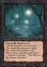Magic the Gathering Alpha Single Will-o'-the-Wisp UNPLAYED (NM/MT)