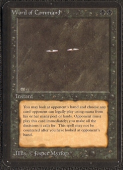 Magic the Gathering Alpha Single Word of Command - NEAR MINT (NM)