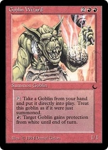 Magic the Gathering Dark Single Goblin Wizard - MODERATE PLAY (MP)
