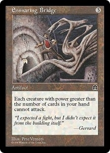 Magic the Gathering Stronghold Single Ensnaring Bridge - MODERATE PLAY (MP)