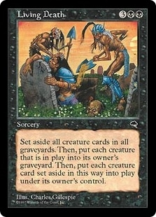 Magic the Gathering Tempest Single Living Death - SLIGHT PLAY (SP)