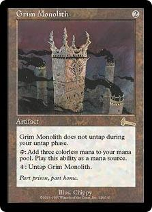 Magic the Gathering Urza's Legacy Single Grim Monolith UNPLAYED (NM/MT)
