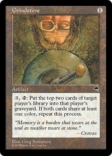 Magic the Gathering Tempest Single Grindstone - SLIGHT PLAY (SP)