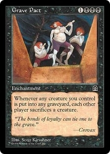 Magic the Gathering Stronghold Single Grave Pact - NEAR MINT (NM)