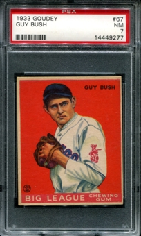 1933 Goudey Baseball #67 Guy Bush PSA 7 (NM) *9277