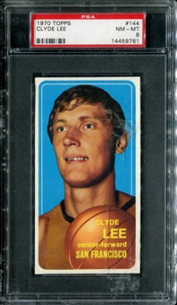 1970/71 Topps Basketball #144 Clyde Lee PSA 8 (NM-MT) *9761