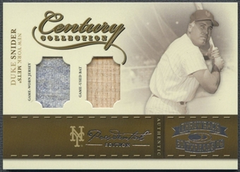2004 Throwback Threads #19 Duke Snider Century Collection Bat Jersey #1/1