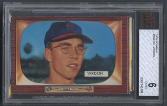 1955 Bowman Baseball #296 Bill Virdon BVG 6 (EX-MT) *5104