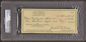 Jackie Robinson Autographed Signed Check (PSA Encapsulated)