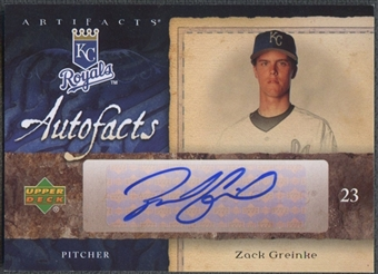 2007 Artifacts #ZG Zack Greinke Autofacts Auto