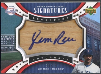 2007 Sweet Spot Classic Signatures #RI Jim Rice Barrel Blue Ink Auto #33/75