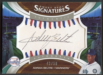 2006 Sweet Spot Signatures #101 Adrian Beltre Red-Blue Stitch Black Ink Auto #48/50