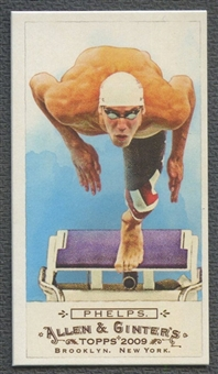 2009 Topps Allen and Ginter #276 Michael Phelps Mini Bazooka #19/25