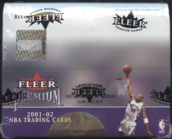 2001/02 Fleer Premium Basketball Retail Box