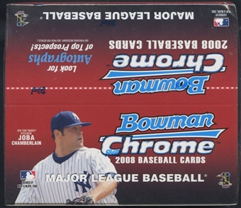 2008 Bowman Chrome Baseball 24 Pack Retail Box