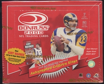 2000 Donruss Football Retail Box