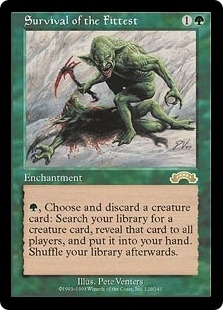 Magic the Gathering Exodus Single Survival of the Fittest - SLIGHT PLAY (SP)