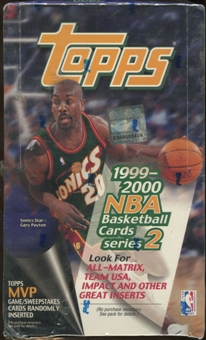 1999/00 Topps Series 2 Basketball Retail 36 Pack Box