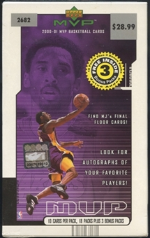 2000/01 Upper Deck MVP Basketball Blaster Box
